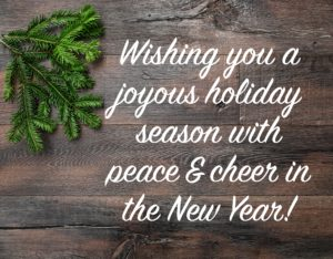 Seasons Greetings From Our Team to Yours
