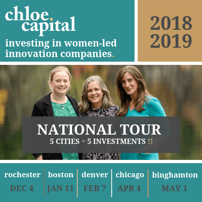 Chloe Capital ready to make  investments in women-led innovation companies: Deadline Oct 1, 2018