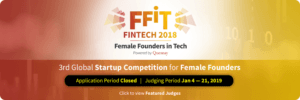 FinTech 2019 - Christine a first-round judge.